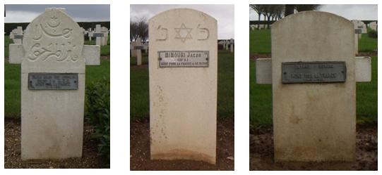 Stèles Franse soldaten