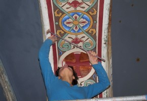 kunsner Xenia Michaelsen dekorum vægmalri