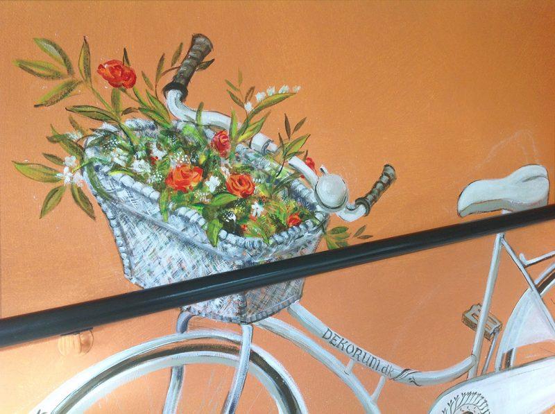 vægmaleri cykel
