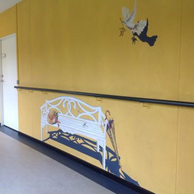 Vægmalerier til venterværelser  og hospitaler