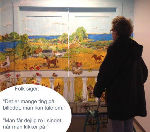 kunstner Xenia Michaelsen mine Værdige naturmaleri og samtalemaleri til Demens