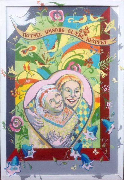 kunstner Xenia Michaelsen mine Værdige værdigbillede til Omsorgcenter