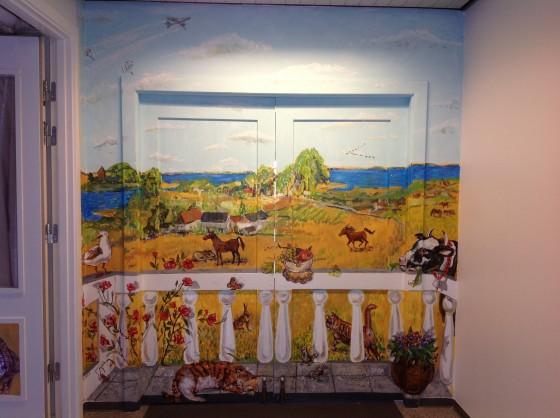 kunstner Xenia Michaelsen mine Værdige vægmaleri til Demens