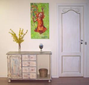 Boligudsmykning til private feriestemning vægmaleri Xenia Michaelsen 3D effekt