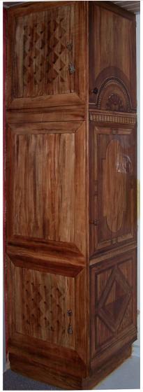 dørdekoration maletdør 3D effekt