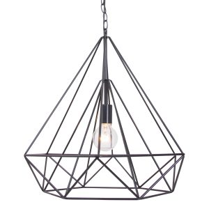 Hanglamp Mexlite Jenno - Zwart-7598ZW