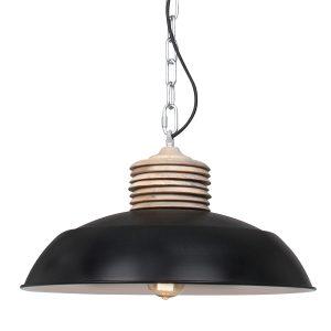 Hanglamp Mexlite Samso - Zwart-7974ZW