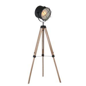Vloerlamp Mexlite Dyce - Zwart-1561BE