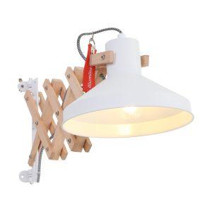 Wandlamp Anne Lighting Woody - Wit-7900BE