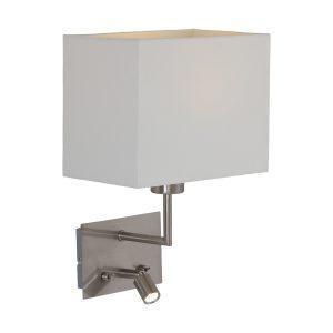 Wandlamp Mexlite Nouveau - Staal-1472ST