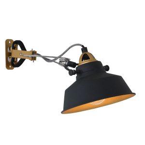 Wandlamp Mexlite Nové - Zwart-1320ZW