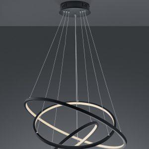 Hanglamp Trio Leuchten Aaron - Antraciet-352710342