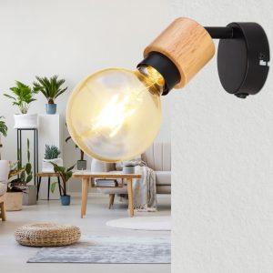 Wandlamp Globo Jorna - Zwart-54031-1