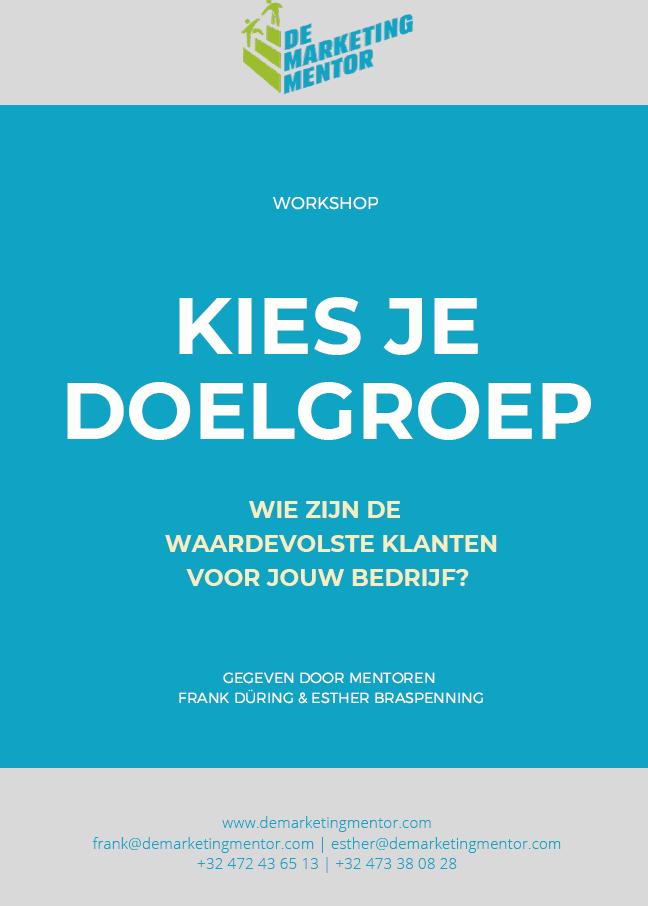 Omslag brochure Kies je doelgroep-workshop