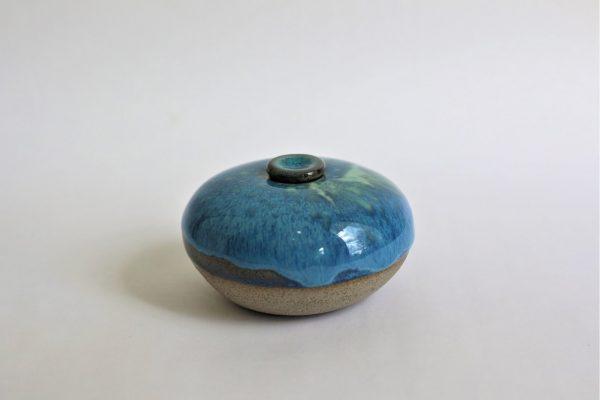 Blauwige Keramische Mini Urn 1 b2 (2)