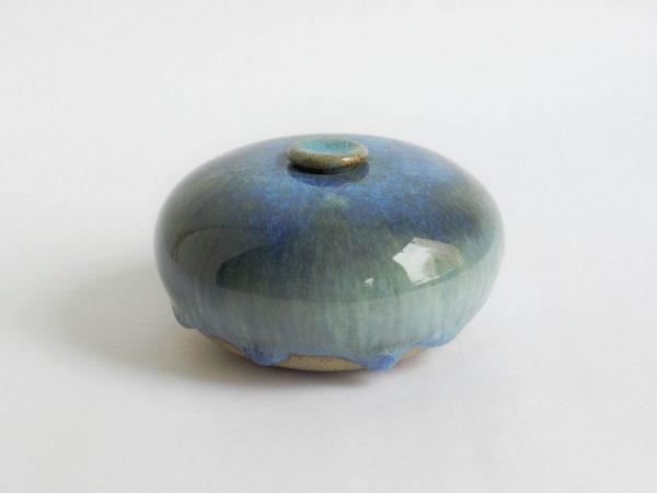Blauwige Keramische Mini Urn Aardewerk 2 b4 (1)