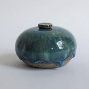 Blauwige Keramische Mini Urn 3 b5 (1)