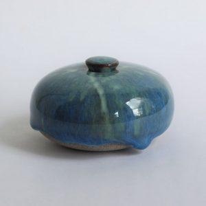 Blauwige Keramische Mini Urn Aardewerk 4 b7 (2)