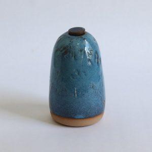 Hoge Blauwe Keramische Mini Urn r2 (2)