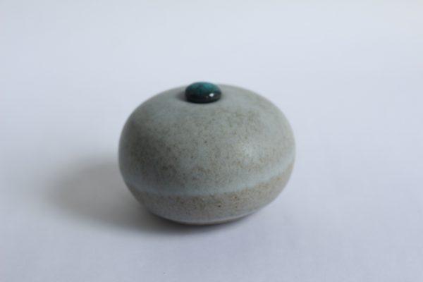 Mat Witte Keramische Mini Urn Aardewerk r1 (2)