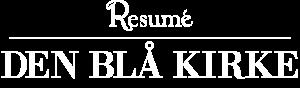 Den Blå Kirke hvidt logo
