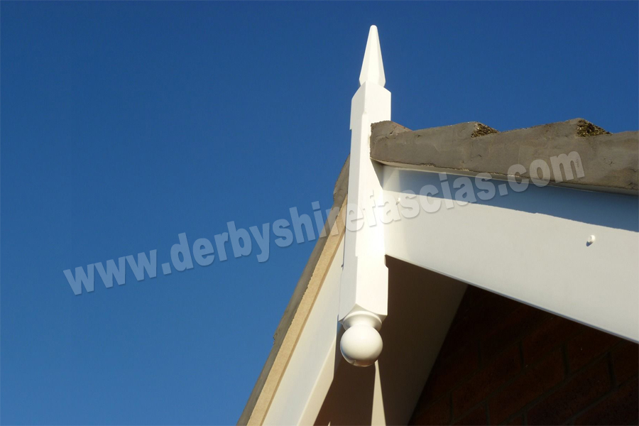 Decorative 3D Finial by Derbyshire Fascias