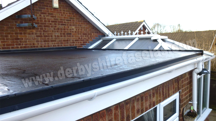 Rubber Roof Installation by Derbyshire Fascias