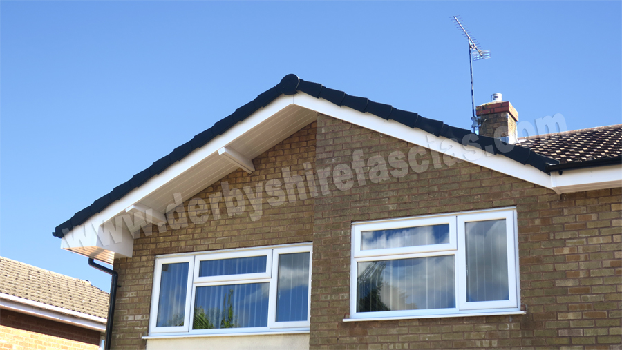 White Fascias & Black Gutters by Derbyshire Fascias