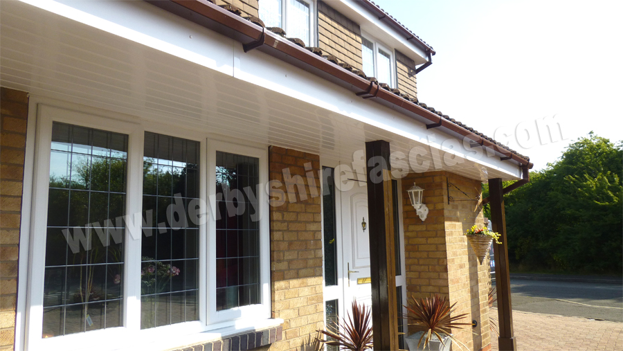 White Fascias & Brown Gutters by Derbyshire Fascias