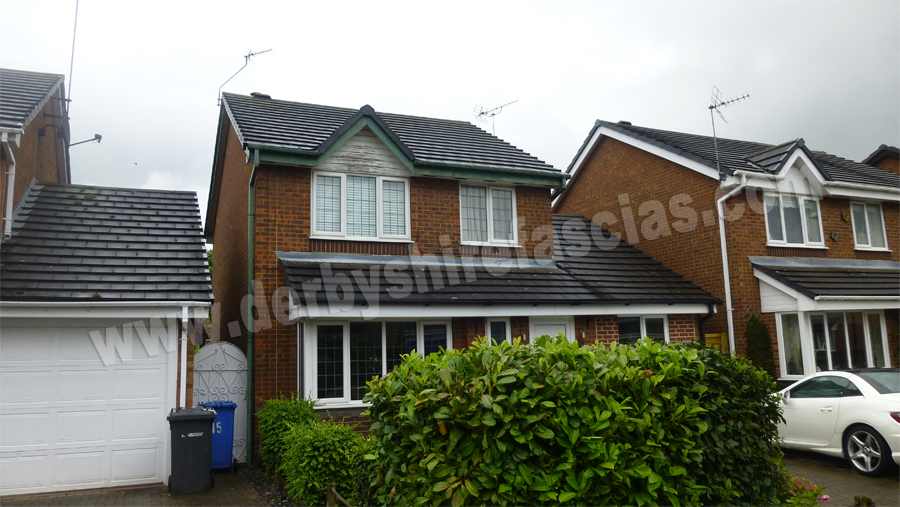 old and tired wooden fascias