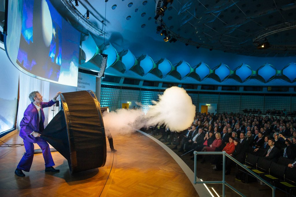Event photographer in Berlin at science show during conference at bcc