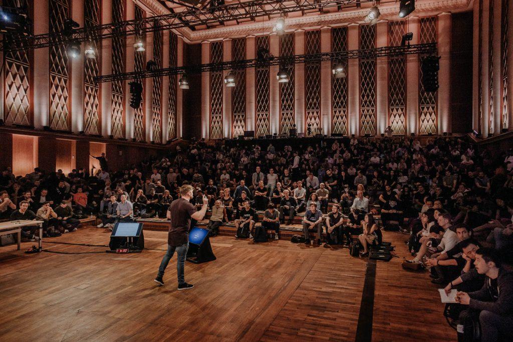 Web conference at Funkhaus Berlin