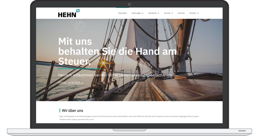 HEHN Steuerberatungsgesellschaft Website