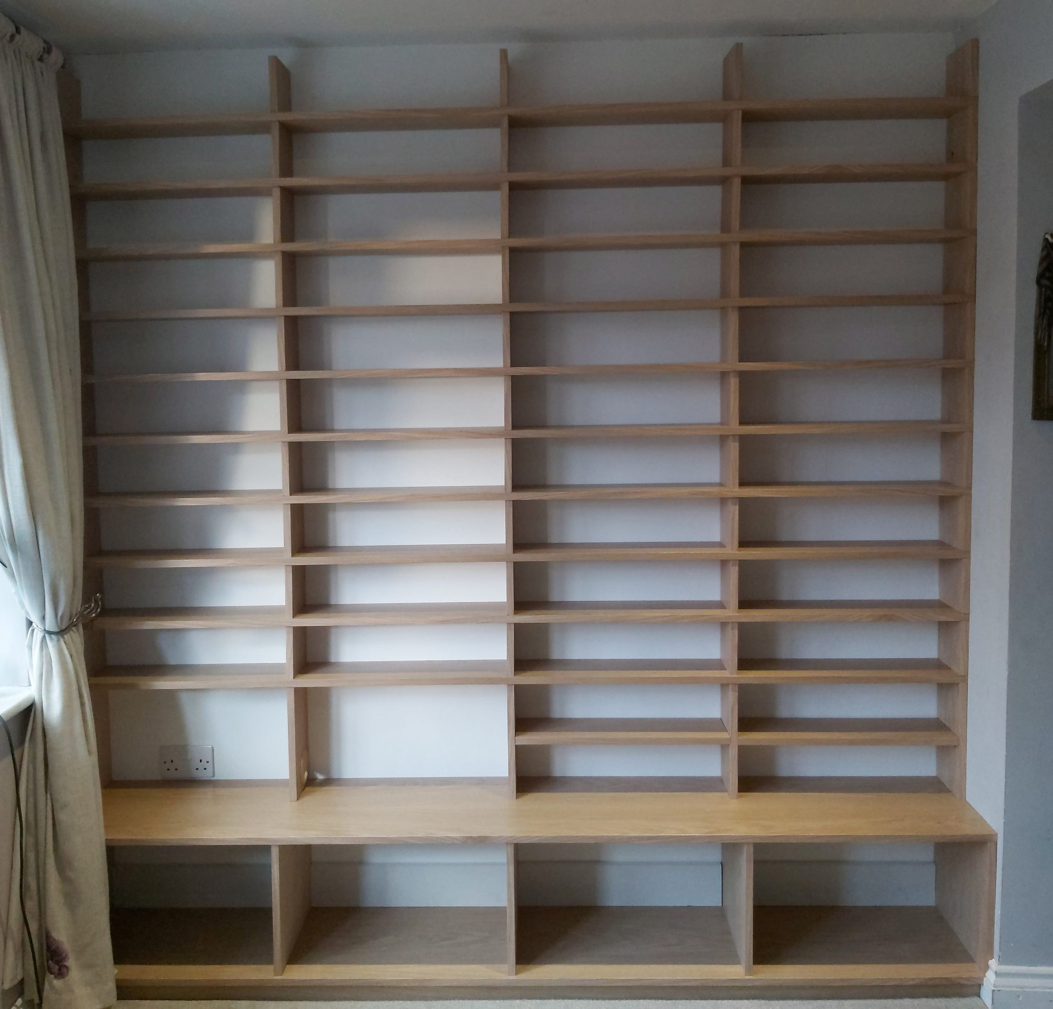 Almost completed shelving