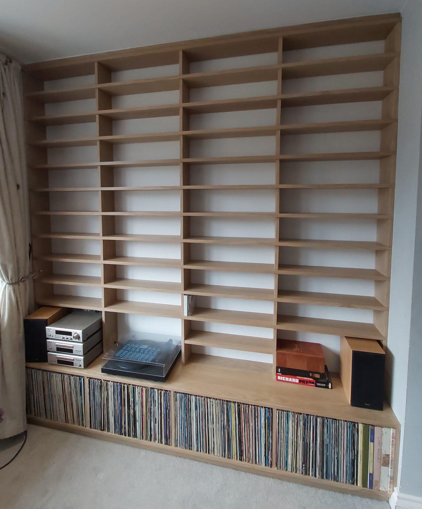 Installed shelves