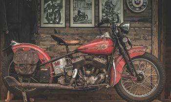 vintage 1942 harley-davidson liberator op plexiglas