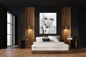 blonde model bedroom