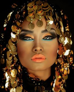 Plexiglas schilderij - Portret van een Arabische Prinses op plexiglas