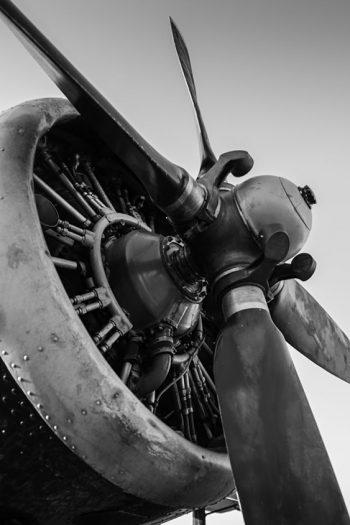 Vintage plane engine