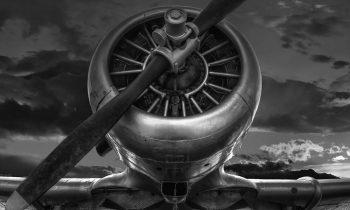 oorlogsvliegtuig harvard op plexiglas