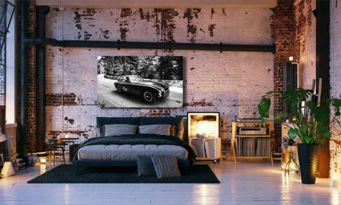 Ferrari 340 als poster in slaapkamer op plexiglas