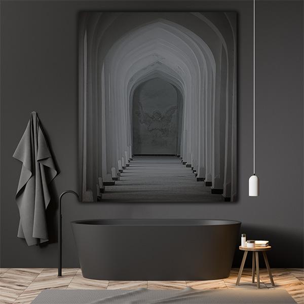 Arched hallway dark