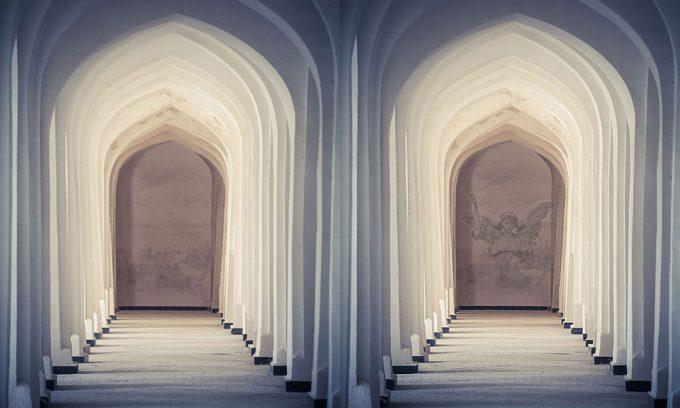 Arched hallway photoshop