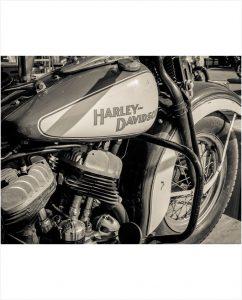 Classic Harley op plexiglas