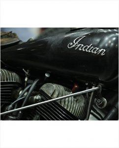 kunst - Indian motorfiets op plexiglas