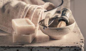 antieke scheerspullen