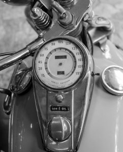 Harley-Davidson close up op plexiglas
