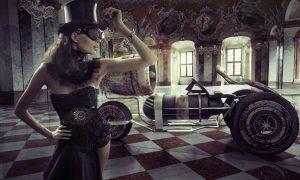 sexy woman steampunk