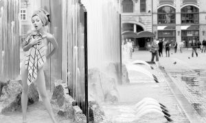 Plexiglas schilderij - Fountain bath - public bathing