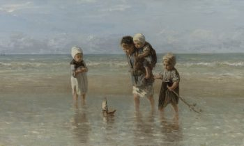 Kinderen der zee door de Nederlandse schilder Jozef Israëls uit 1872